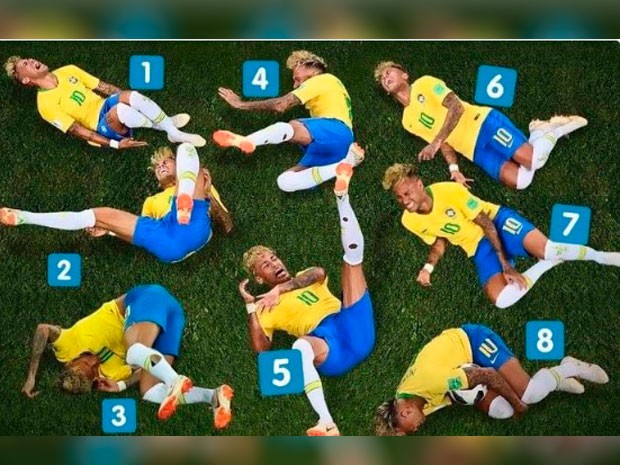 The 8 Expressions of Neymar
