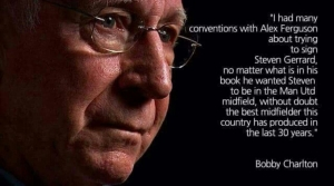 Sir boby Charlton on Gerrard